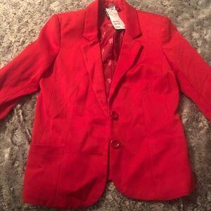 Red Size 2 H&M Blazer